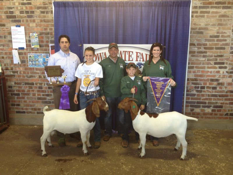 Wylde Green Acres Asteroid and Wylde Green Acres Jingle - Show Goat Winner Group